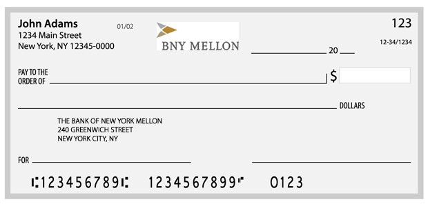 bank routing transit numbers - BNY Mellon