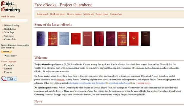 Read Free Books Online - Project Gutenberg