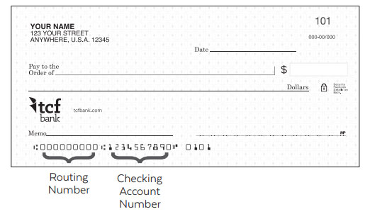routing transit number - TCF Bank