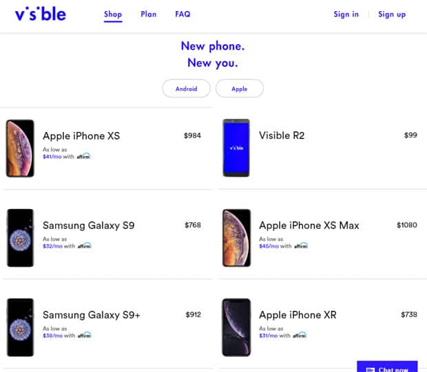 Visible Review - Available Phones