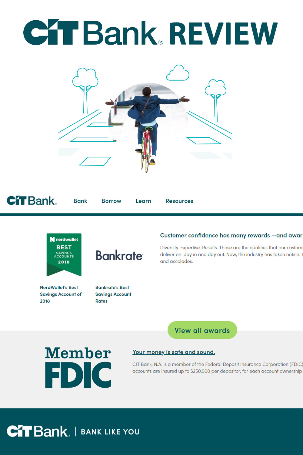 If you're looking for a bank paying high interest on savings accounts and CDs – with no recurring fees – CIT Bank needs to be on your short list of banks.