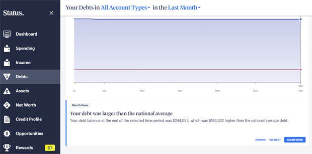 Status Money Review - Dashboard Menu