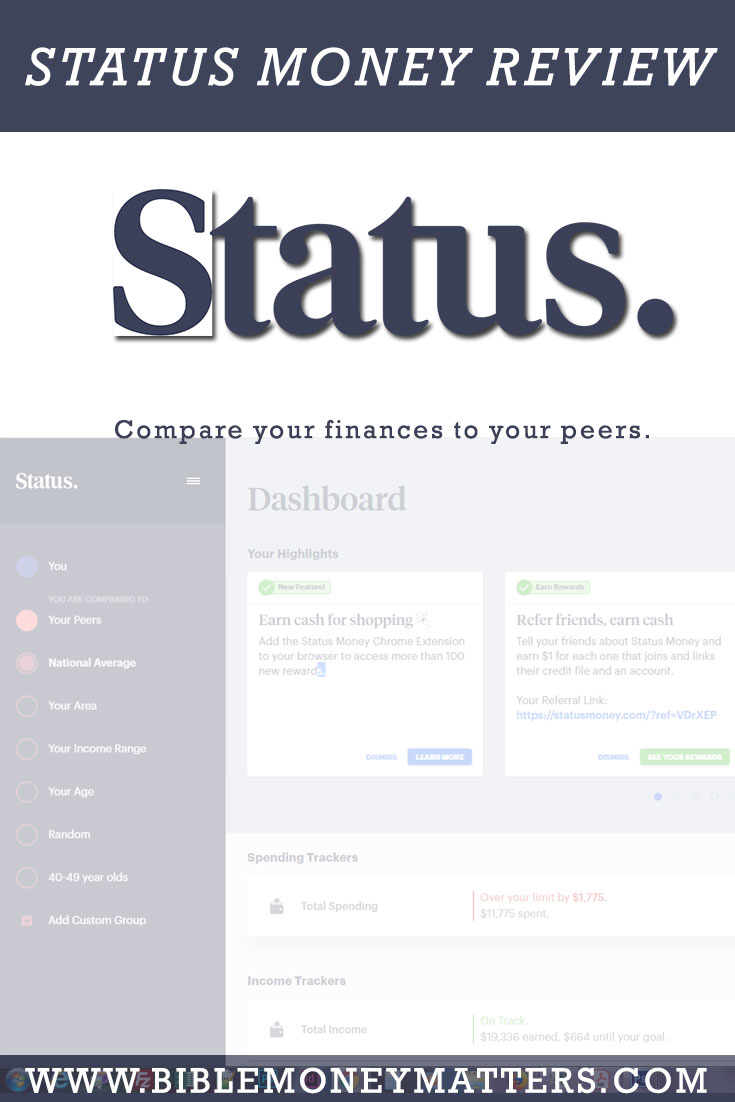 Status Money is a financial app that allows you track your finances, and gives you insight into how your finances compare to those of your peers.