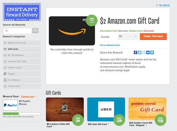 Δωρεάν κάρτα δώρων Amazon στο PrizeRebel