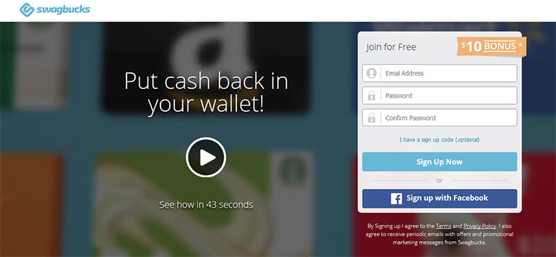 Beste Money Making Apps - Swagbucks