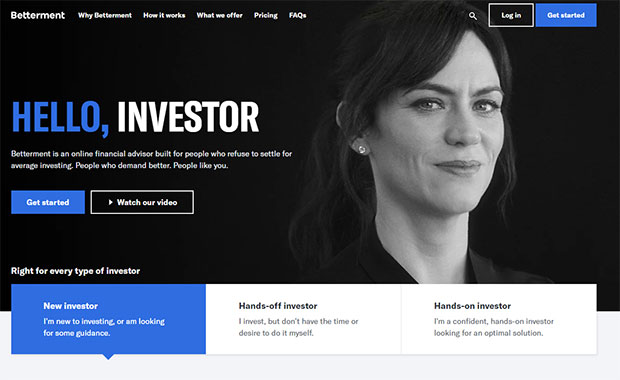 Betterment Review - Website Homepage