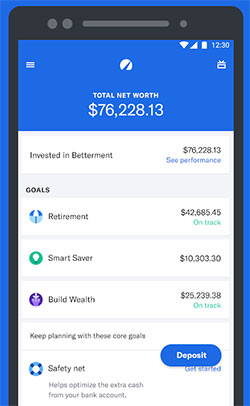 Betterment Review - Mobile App on iOS and Android