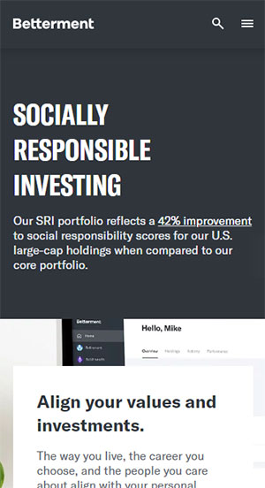 Betterment Socially Responsible Investing Options