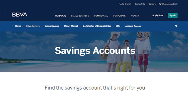 BBVA Compass Bank Review - Website