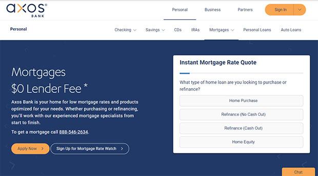 Axos Bank Mortgages