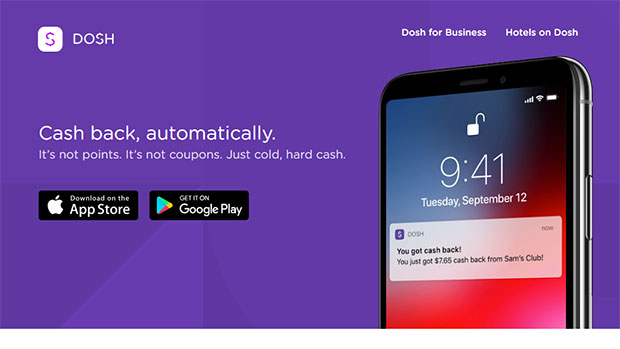 Dosh App Review: Website Homepage