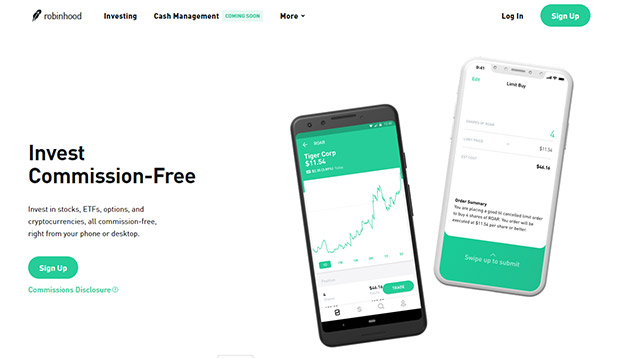 Robinhood - invest with no minimums and get free stock