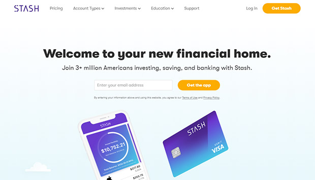 Stash Invest - buy fractional shares for as little as $5