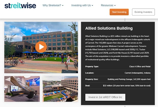 Streitwise Investment Allied Solutions Building