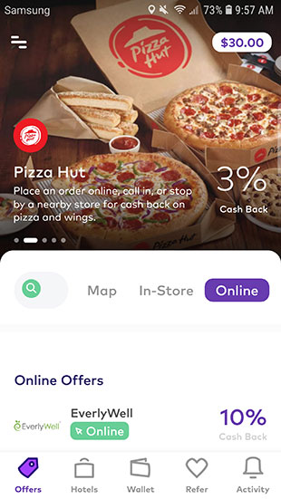 Dosh App Review: App Cash Back Homepage