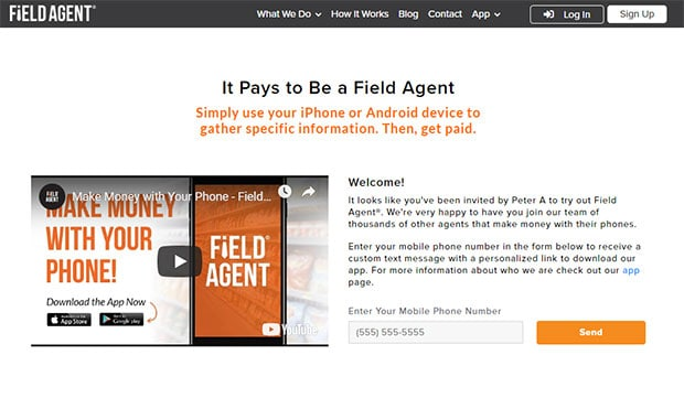 apps that pay you money - field agent
