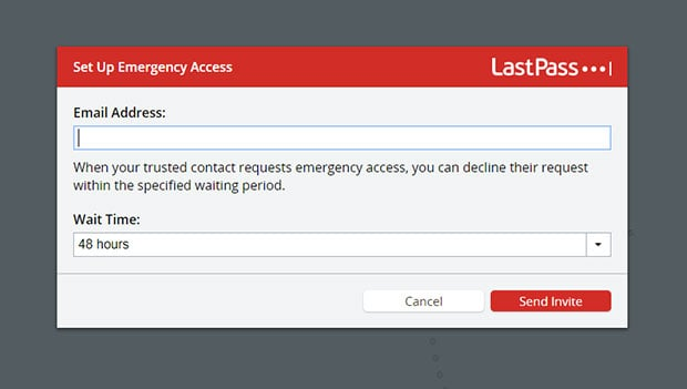 LastPass - keep all your passwords in one place for an emergency