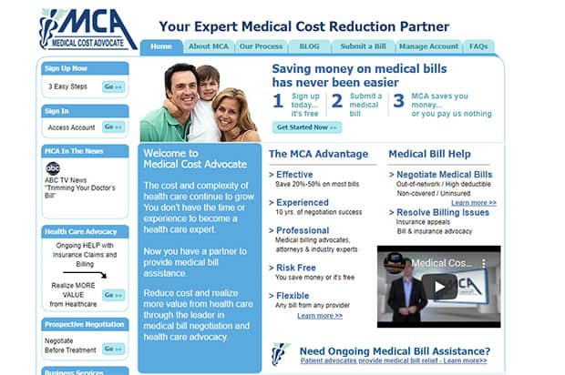 Medical Cost Advocate website