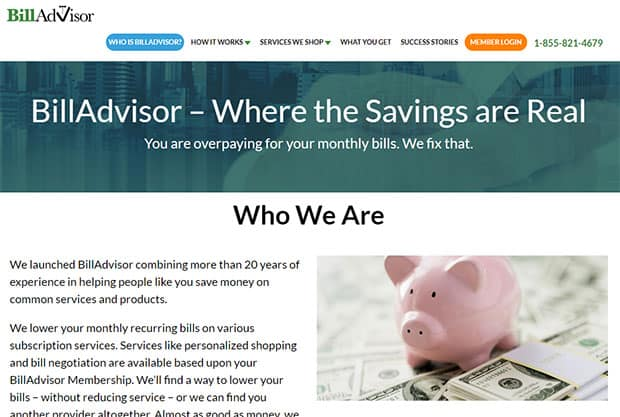 Bill Advisor website