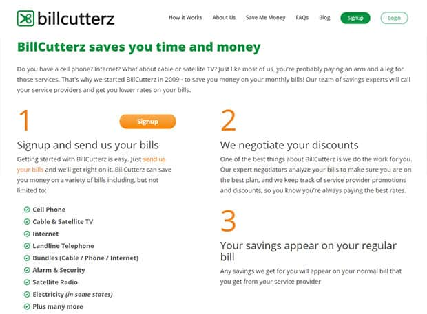 BillCutterz website