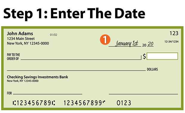 how to write a check - enter the date