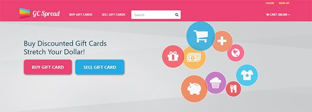 Sell your gift card to GC Spread