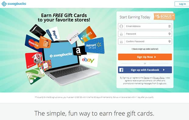 Swagbucks - free Walmart gift cards