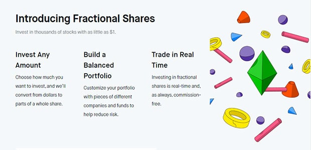 Robinhood has fractional shares