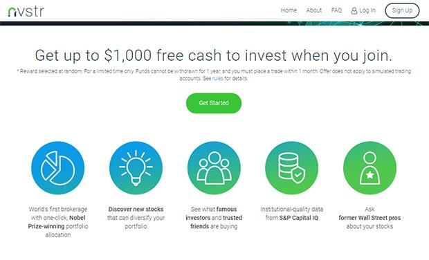 Nvstr free cash to invest