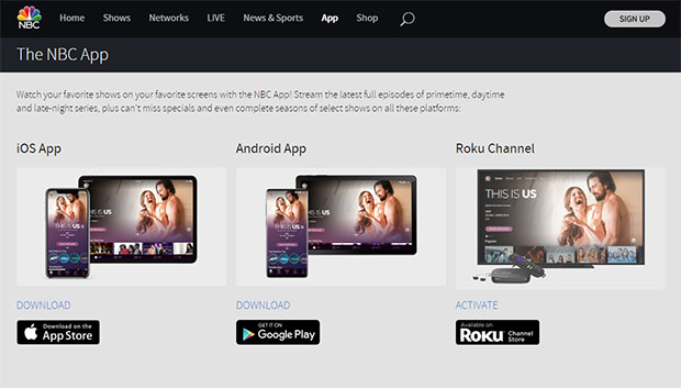 Watch TV for free on NBC