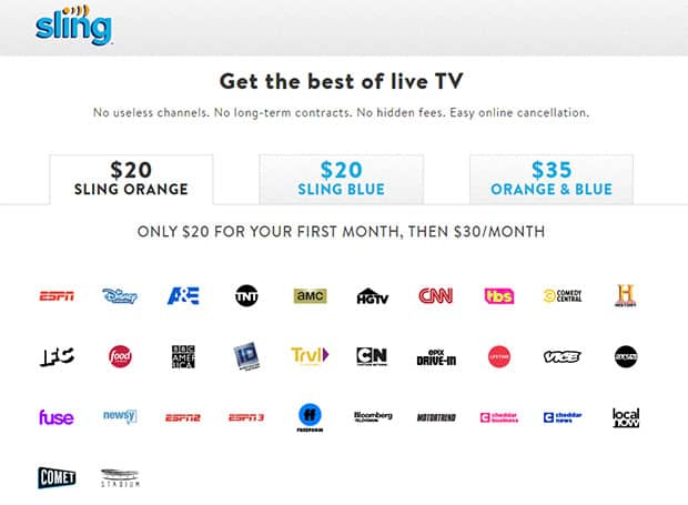 Sling TV Review - Sling Orange Channels