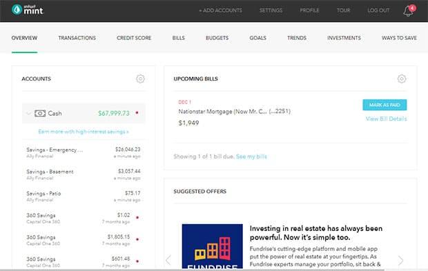 Mint.com Budgeting Software