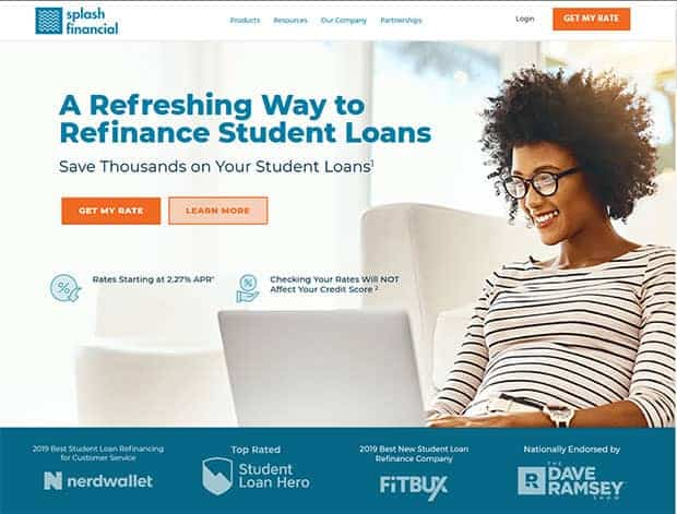 Splash Financial Review - Homepage