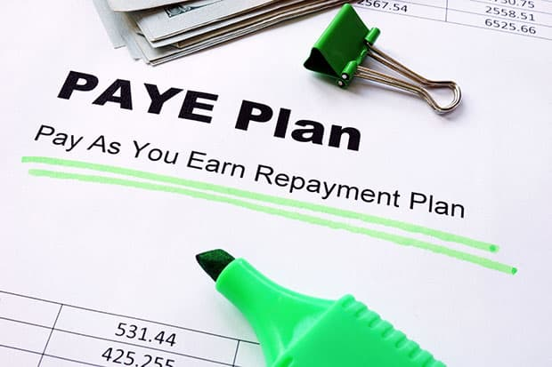 Student Loan Forgiveness PAYE Plan