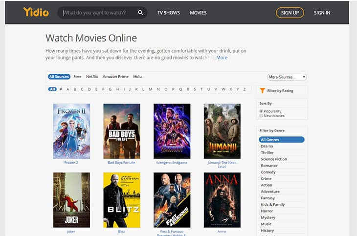 yideo free movie streaming