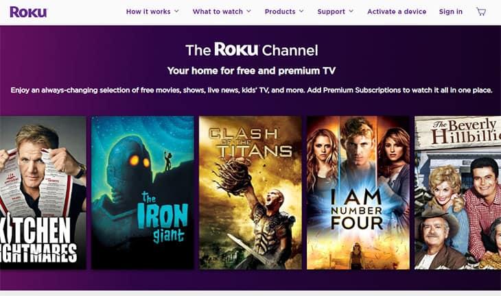 Streaming de filmes grátis Roku