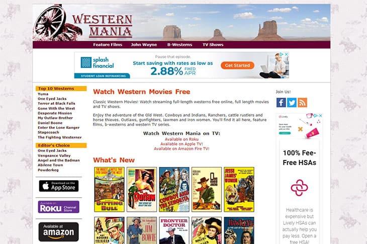 Filmes grátis de transmissão - Western Mania
