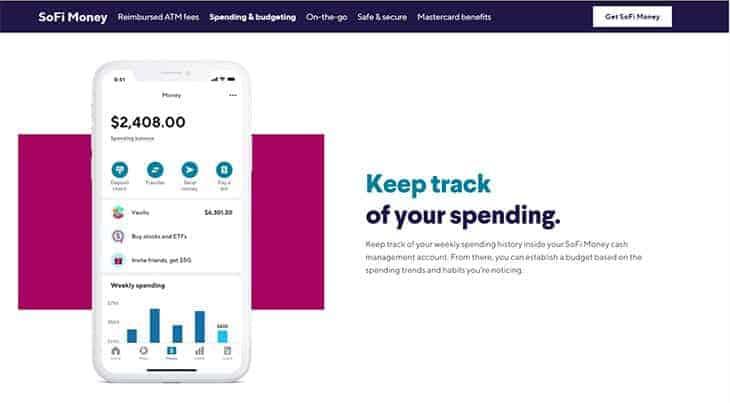 sofi money cash management budgeting