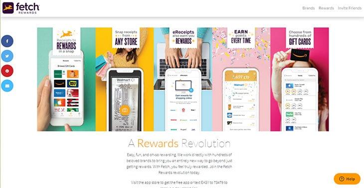 Fetch Rewards Website Homepage