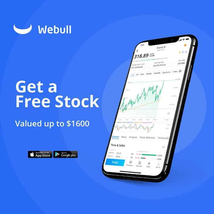 Webull free stock promotion