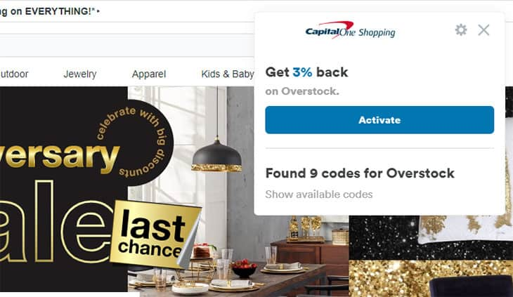 Capital One Shopping - Available codes