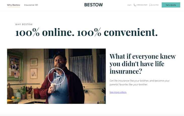 Bestow Review - Website Homepage