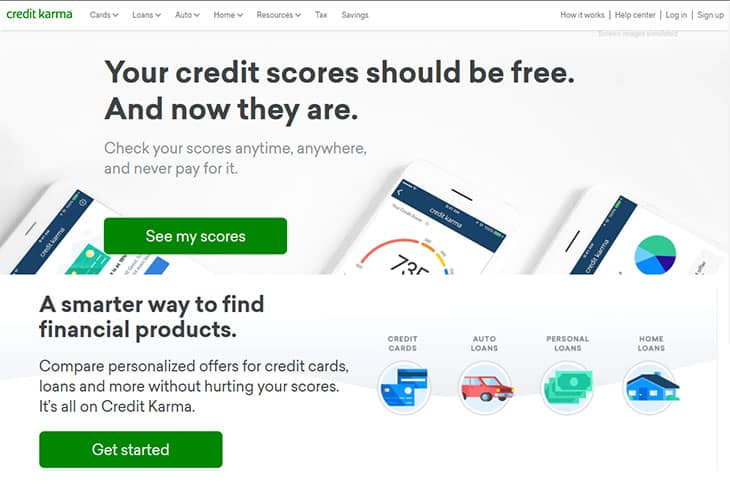 Credit Karma Review - Website Homepage