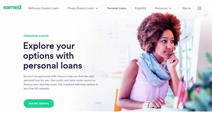 Earnest - Personal Loans Via Fiona