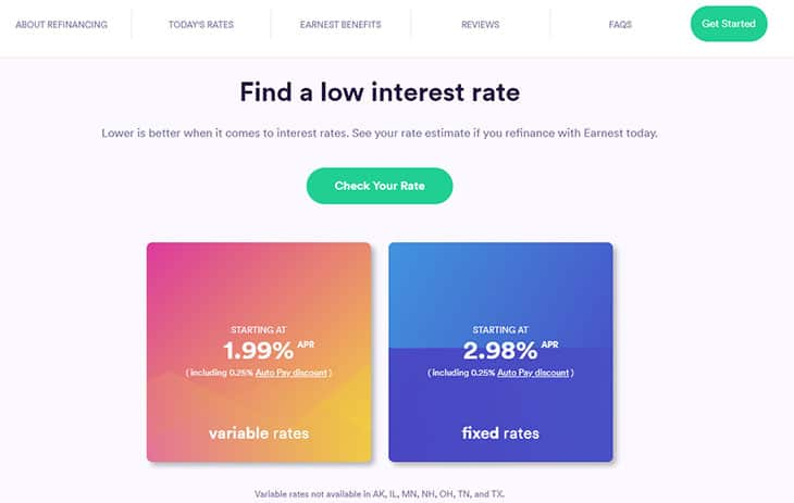 Earnest - Find A Low Interest Rate