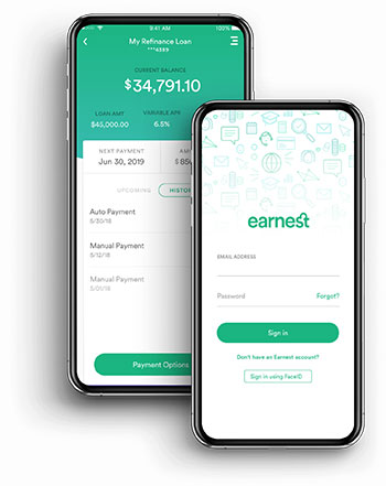 Earnest mobile optimized website