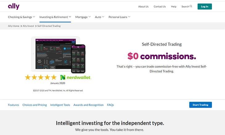 Ally Invest robinhood alternative