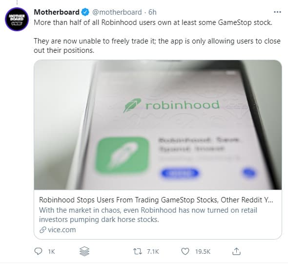 Users looking for Robinhood alternatives due to trading controversy