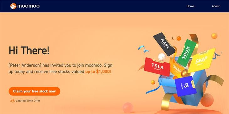 Moomoo app - get free stocks