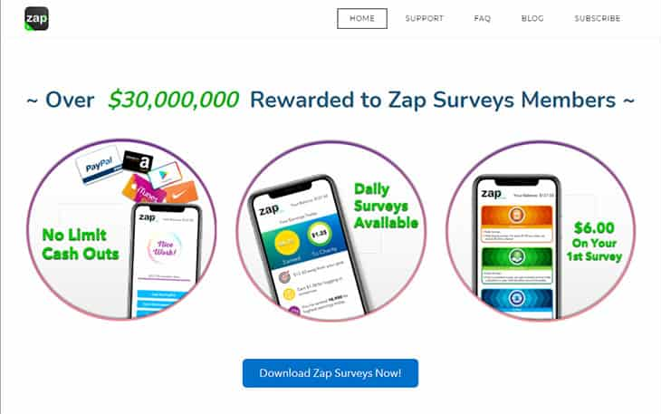 Zap Surveys - earn Amazon gift cards or cash
